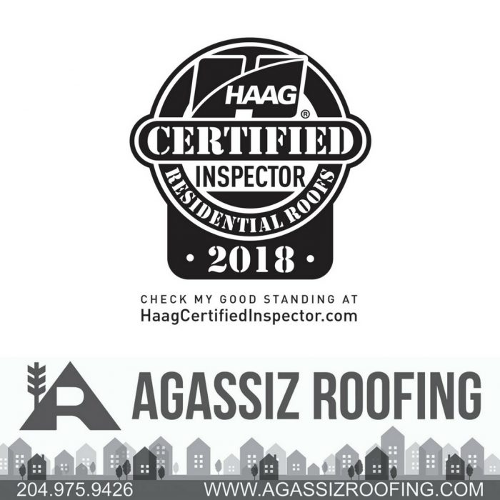 Agassiz Roofing - A Winnipeg Roofing Company - HAAG Certified Roof Inspector